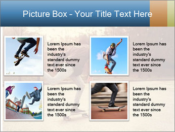 Hipster On Skateboard PowerPoint Template - Slide 14