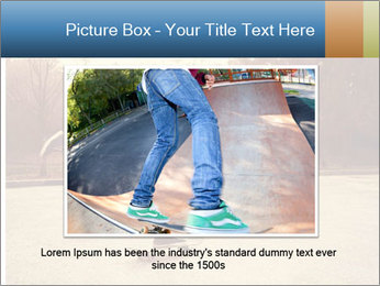 Hipster On Skateboard PowerPoint Template - Slide 15