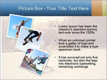 Hipster On Skateboard PowerPoint Templates - Slide 17