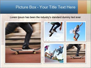 Hipster On Skateboard PowerPoint Templates - Slide 19