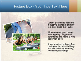 Hipster On Skateboard PowerPoint Template - Slide 20