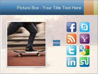 Hipster On Skateboard PowerPoint Template - Slide 21