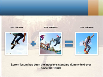 Hipster On Skateboard PowerPoint Template - Slide 22