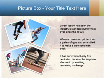 Hipster On Skateboard PowerPoint Template - Slide 23