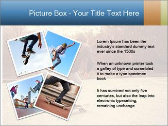 Hipster On Skateboard PowerPoint Templates - Slide 23