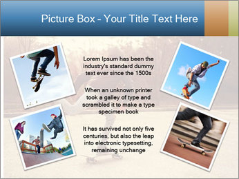 Hipster On Skateboard PowerPoint Template - Slide 24