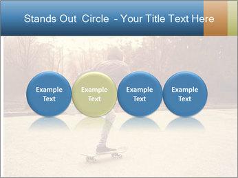 Hipster On Skateboard PowerPoint Templates - Slide 76