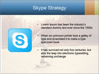 Hipster On Skateboard PowerPoint Template - Slide 8