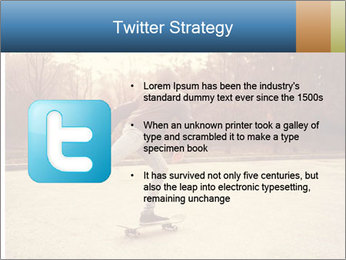 Hipster On Skateboard PowerPoint Template - Slide 9