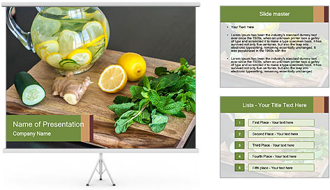 Refreshing Lemon Drink PowerPoint Template
