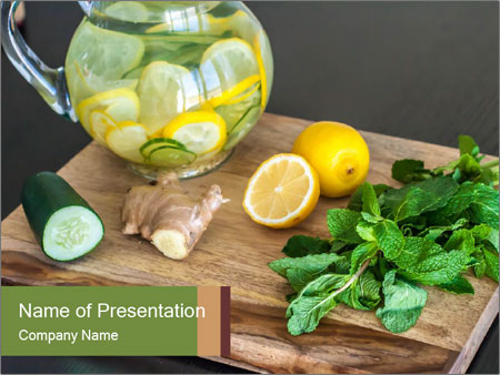 Refreshing Lemon Drink PowerPoint Templates