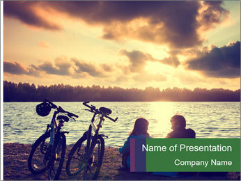 Friends At Seaside PowerPoint Template