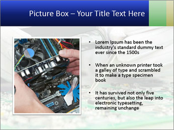 Man Working With Microchip PowerPoint Template - Slide 13