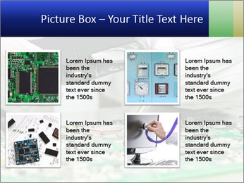 Man Working With Microchip PowerPoint Template - Slide 14
