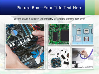 Man Working With Microchip PowerPoint Template - Slide 19