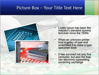 Man Working With Microchip PowerPoint Template - Slide 20