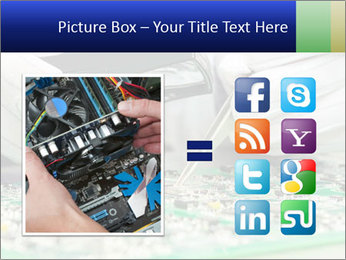 Man Working With Microchip PowerPoint Template - Slide 21