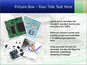 Man Working With Microchip PowerPoint Template - Slide 23