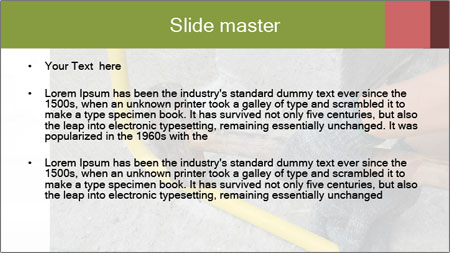 Man Fixing Tubes PowerPoint Template - Slide 2
