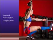 Cross Fit Female Master PowerPoint Templates