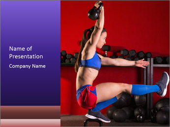 Cross Fit Female Master PowerPoint Template - Slide 1