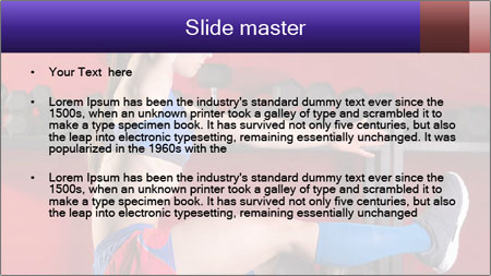 Cross Fit Female Master PowerPoint Template - Slide 2