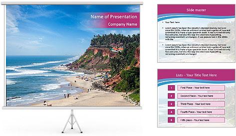 Varkala Beach PowerPoint Template