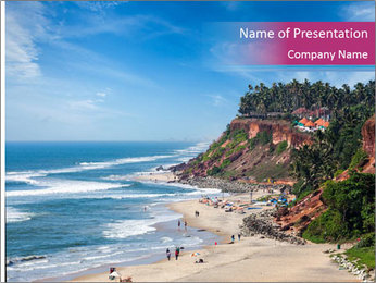 Varkala Beach PowerPoint Templates - Slide 1