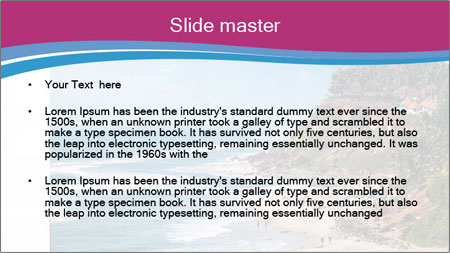 Varkala Beach PowerPoint Template - Slide 2