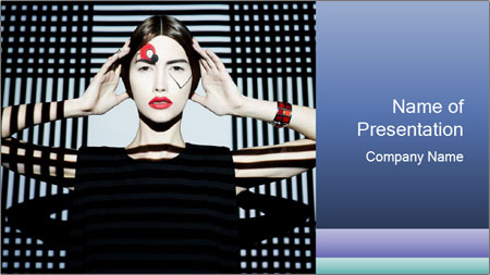 The supermodel, fashion world. PowerPoint Template