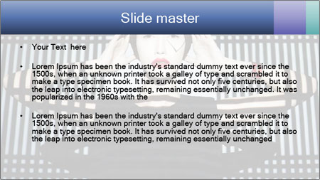 The supermodel, fashion world. PowerPoint Template - Slide 2