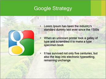American dream. Beautiful house and green lawn. PowerPoint Template - Slide 10
