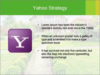 American dream. Beautiful house and green lawn. PowerPoint Template - Slide 11