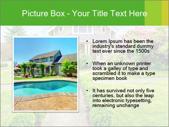 American dream. Beautiful house and green lawn. PowerPoint Template - Slide 13