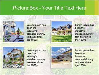 American dream. Beautiful house and green lawn. PowerPoint Template - Slide 14
