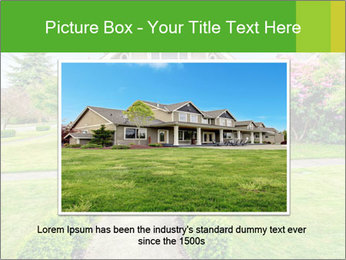 American dream. Beautiful house and green lawn. PowerPoint Template - Slide 16