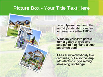 American dream. Beautiful house and green lawn. PowerPoint Template - Slide 17