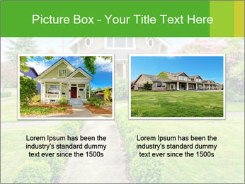 American dream. Beautiful house and green lawn. PowerPoint Template - Slide 18