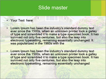 American dream. Beautiful house and green lawn. PowerPoint Template - Slide 2