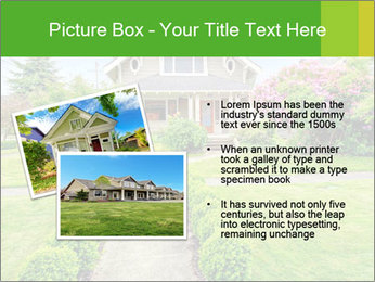 American dream. Beautiful house and green lawn. PowerPoint Template - Slide 20