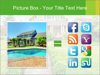 American dream. Beautiful house and green lawn. PowerPoint Template - Slide 21