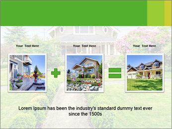 American dream. Beautiful house and green lawn. PowerPoint Template - Slide 22