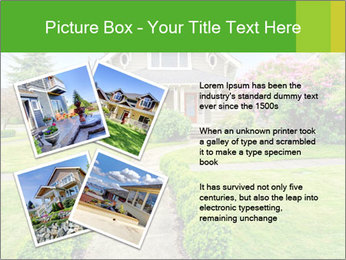 American dream. Beautiful house and green lawn. PowerPoint Template - Slide 23