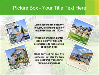 American dream. Beautiful house and green lawn. PowerPoint Template - Slide 24