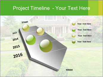 American dream. Beautiful house and green lawn. PowerPoint Template - Slide 26