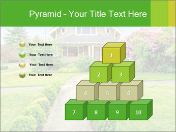 American dream. Beautiful house and green lawn. PowerPoint Template - Slide 31