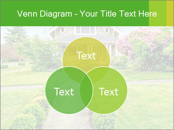 American dream. Beautiful house and green lawn. PowerPoint Template - Slide 33