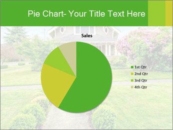 American dream. Beautiful house and green lawn. PowerPoint Template - Slide 36