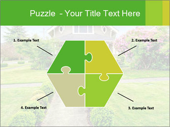 American dream. Beautiful house and green lawn. PowerPoint Template - Slide 40