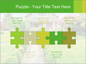 American dream. Beautiful house and green lawn. PowerPoint Template - Slide 41